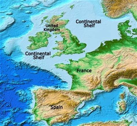 United Kingdom Continental Shelf by How Is Great Britain Connected To Continental Europe