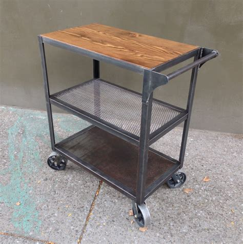 Kitchen Bar Cart by Industrial Bar Cart Bar Cart Kitchen Cart Serving Cart