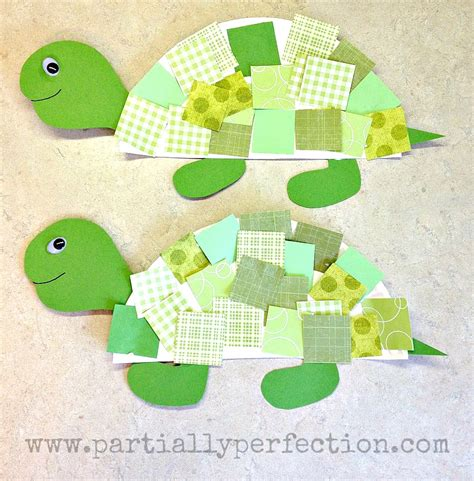 Paper And Crafts - paper plate turtles family crafts