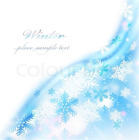 abstract snowflake decorative border beautiful blue cold