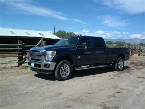 2012 ford f 350 diesel lariat 4x4 crew cab srw long bed with aluminum flatbed
