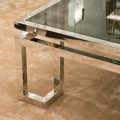 Contemporary Glass Coffee Tables Contemporary Smoked Glass Coffee Table Juliettes Interiors