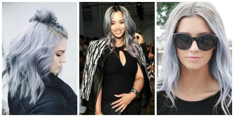 graying blue hair grey highlights hair on pinterest rachael edwards
