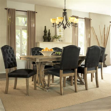 5 dining room sets homelegance dandelion 5 pedestal dining room set