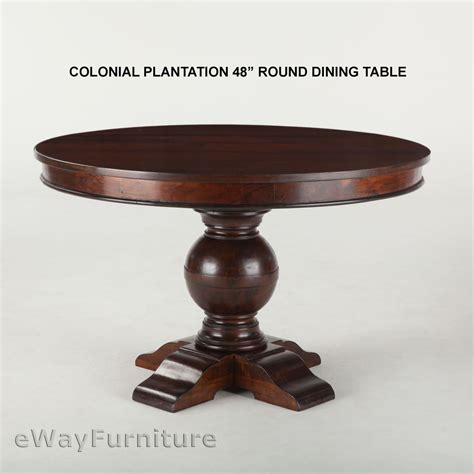 38 inch round dining table colonial plantation 48 inch round dining table