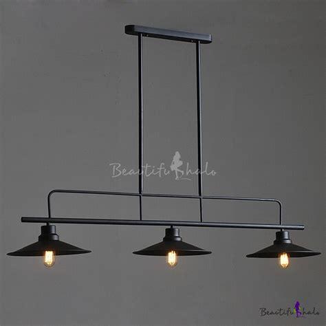 Linear Island Lighting Simple Black Three Light Lighting Industrial Linear Island Light In Black Beautifulhalo