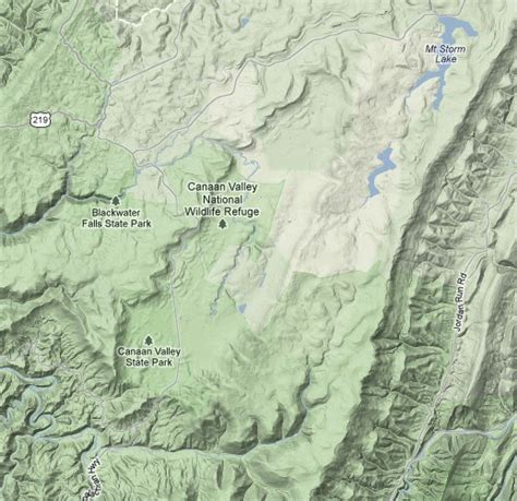 west canaan texas map canaan valley area escape from morgantown july 2012