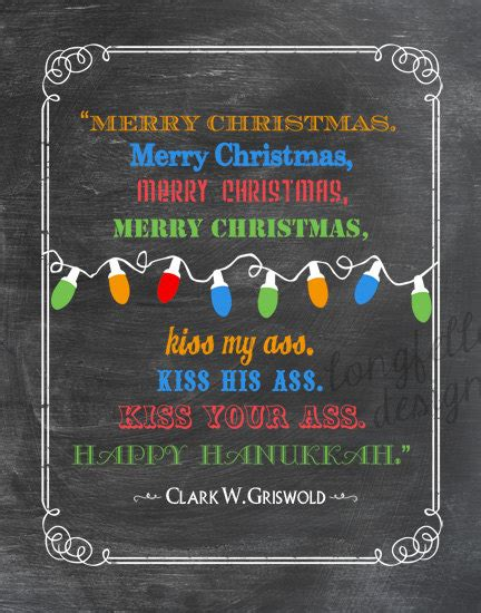 printable christmas vacation quotes clark griswold colorful chalkboard look 11 x 14 print fun