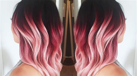 dark blonde on faded red hair how to do the perfect faded ombre youtube