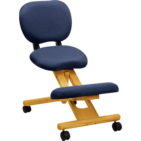 Ergonomic Reclining Office Chair wooden ergonomic kneeling posture office chair with reclining back blue walmart