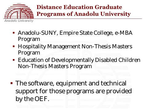 Empire State College Mba Program by E Learning Practices In The Open Education System Of