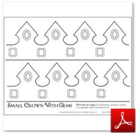 paper crown template mini crown cut out pictures to pin on pinsdaddy