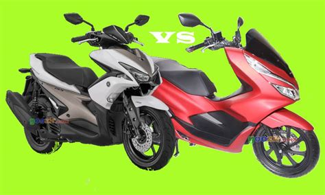 Pcx 2018 Abs Vs Cbs by Honda Pcx 150 Vs Yamaha Aerox S 155 Goozir
