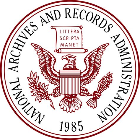 Records Us File Seal Of The United States National Archives And Records Administration Svg