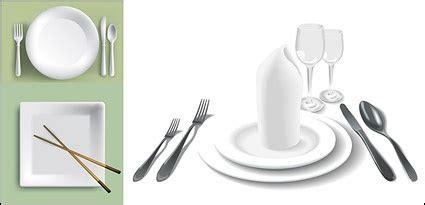 plate plates chopsticks knife fork red glasses cups utensils  vector