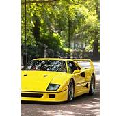 1989 Yellow Ferrari F40  Race Cars Concept Super