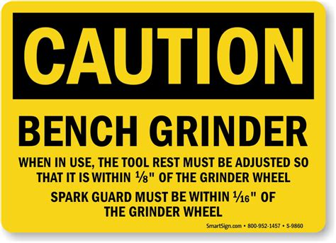 bench grinder regulations grinder safety signs wear face shield eye protection
