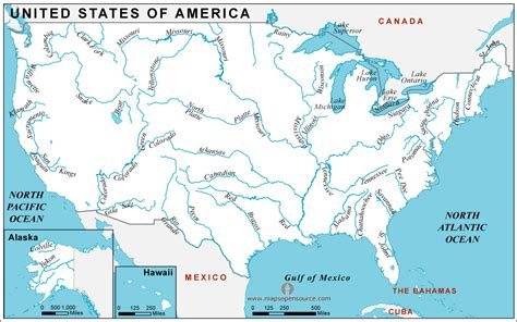 america map rivers major and important rivers of america continent