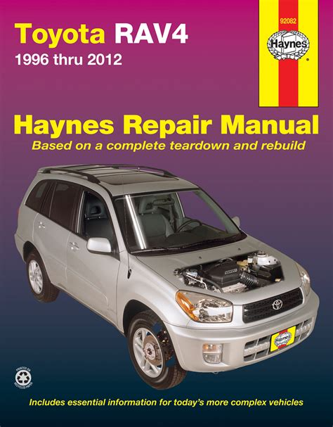 free online auto service manuals 2009 toyota rav4 security system toyota rav4 96 12 haynes repair manual haynes manuals