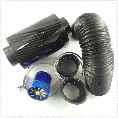 Terlaris Carbon Air Intake Set Filter Udara Carbon Termasuk Slang Dan free shipping high flow air intake modification of carbon fiber air box set air filter jpg