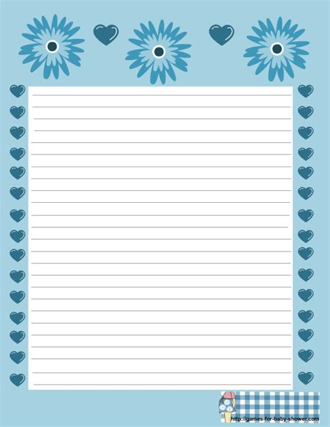 printable baby stationery free printable baby shower stationery