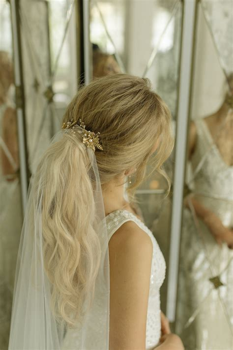 Wedding Hairstyles With Chapel Veil by Playful Ponytails Styling The Classic Wedding Ponytail