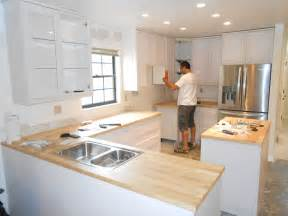 Installing Cabinets Kitchen Diy Reddish Color Style Of Kitchen Cabinet Installation