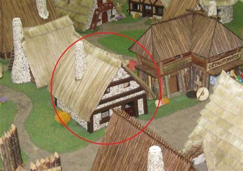 hutte gauloise dessin le d ast 233 rix le gaulois en maquette au 1 40 page 6