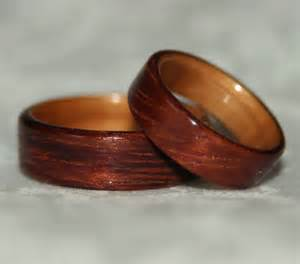wood wedding rings wooden wedding rings with liner custom woods of your choice