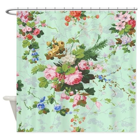 Vintage Floral Shower Curtains Vintage Floral Roses Antique Ro Shower Curtain By