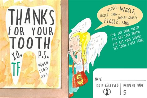 thank you cards templates with teeth diy printable tooth thank you card from the children