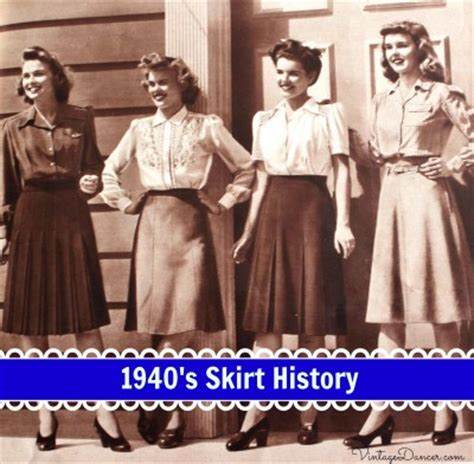 1940s Skirt History: A Line Classics to Summer Dirndl Skirts