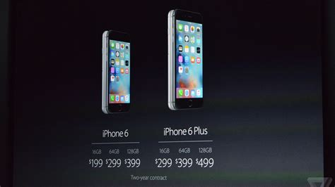 iphone 6s release date september 25th prices start at 199 and 299 for 16gb the verge