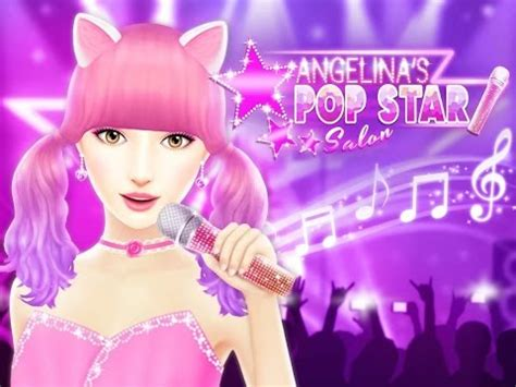 popstar hairstyles games angelina s pop star salon makeu up dress up hairstyle