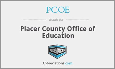Placer County Office Of Education pcoe placer county office of education