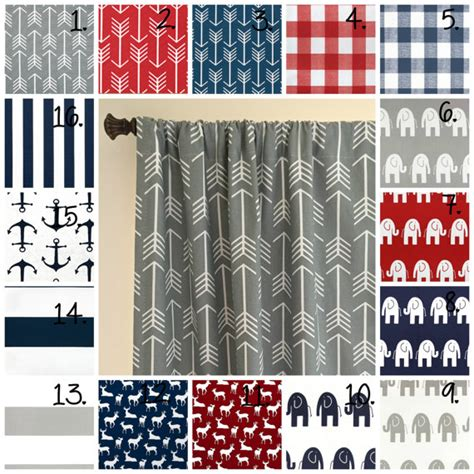 Baby Boy Curtains Nursery Curtains Baby Boy Nursery Curtain Panel Set Elephant Drapes Stripe