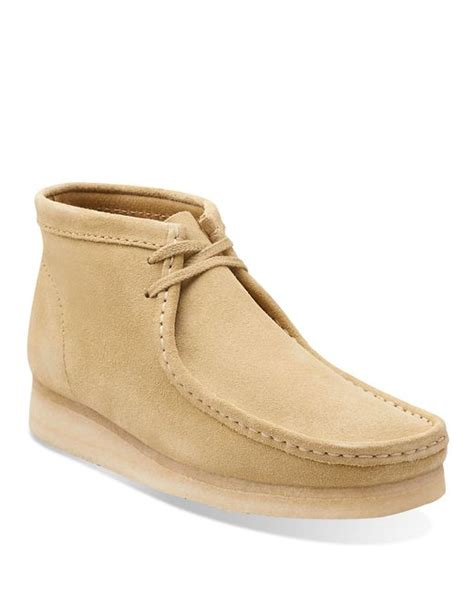 clarks mens chukka boots clarks wallabee suede chukka boots in for