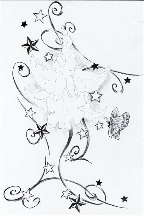 stars and flower tattoo designs flower tattoos