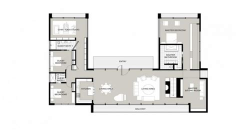 U Shaped Floor Plans by U Shaped One Story House U Shaped House Plans Garden Home