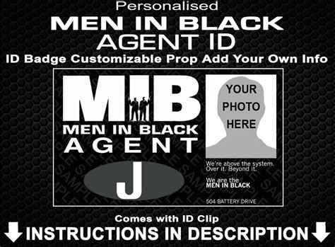 I Id Black in black id badge customised personalized