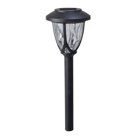 Moonrays Meredith Black Solar Powered Led Outdoor Path Solar Powered Lights Home Depot