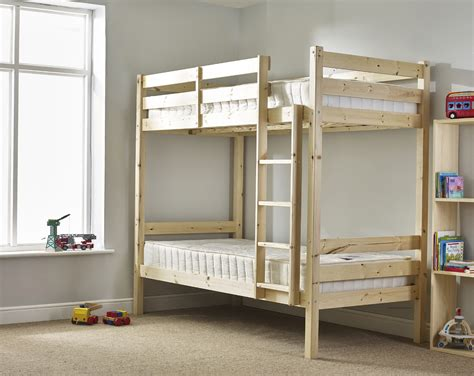 Bunk Beds Single Everest 3ft Single Heavy Duty Solid Pine High Bunk Bed