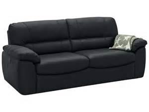 canap 233 fixe 3 places en cuir vesuve coloris noir vente