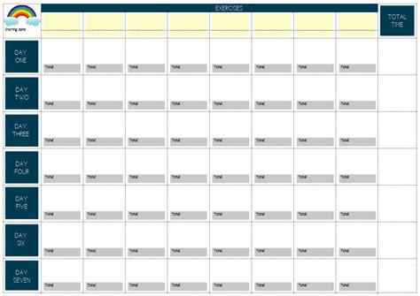 printable exercise planner tinysandtea free printable exercise weekly plan