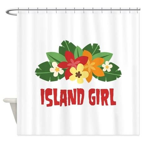 girl shower curtain island girl shower curtain by hopscotch6