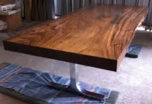 Wood Slab Table Tops Reclaimed Solid Slab Acacia Wood Dining Table By Flowbkk