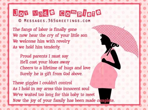 Baby Shower Poems Verses by Free Sweet Baby Shower Poems 365greetings