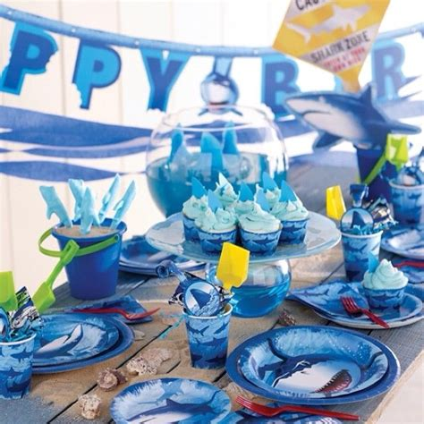 baby shark party supplies 16 best images about shark birthday party ideas on pinterest