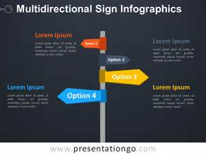 infographics template powerpoint multidirectional sign infographics for powerpoint