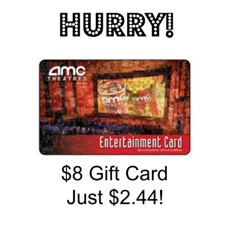 Amc Gift Cards At Cvs - hot 8 amc theaters gift card just 2 44